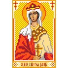 Рисунок на шелке Святая Валерия 22*25см Матрёнин Посад