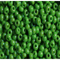 Бисер непрозрачный глянцевый 10/0 Preciosa 53250 - Ярко-зелёный