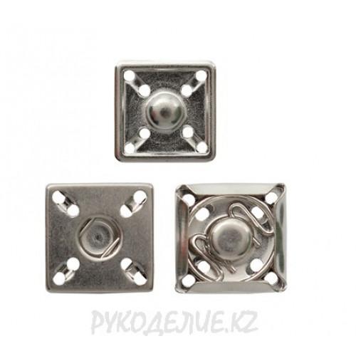 Кнопка пришивная металлическая квадратная MS K-07