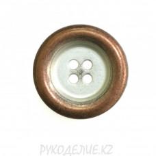 Пуговица металлическая MFB336 (32L, Светло-медный)