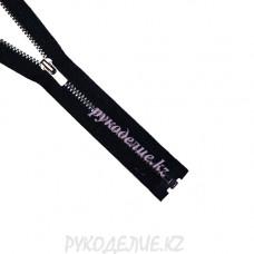 1-замковая Молния металл №3 YKK разъемная, темный никель матовый, 50 см