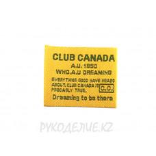 Лейбл пришивной Club Canada 3,8*3см
