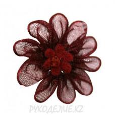 Цветок пришивной капрон d-25мм (борд)