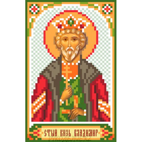 Рисунок на шелке Святой князь Владимир 22*25см Матрёнин Посад