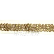 Кружево золото-серебро 3,5см