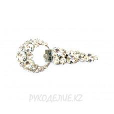 Клипсы шубные со стразами 100*45мм Angelica Fashion
