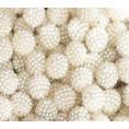 Бусины жемчуг шишечка пластик (10шт) 12мм - 06 - Молочный