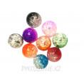 Бусины стекло Снежок 14мм - Цветной 6094 (9бус)