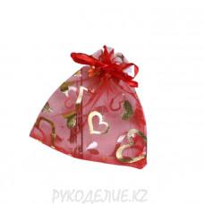 Мешочек подарочный Сердечки 10*12см