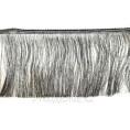 Бахрома метанить 15см 46 - Черно-серебряный