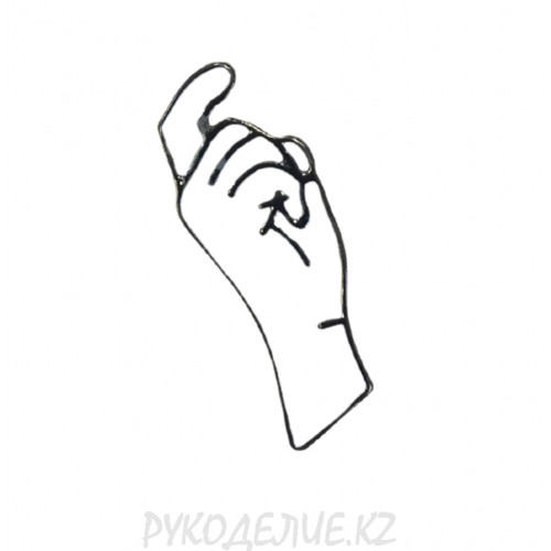 Брошь Рука 29*10мм