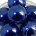 Бусины жемчуг пластиковые 14мм (9 штук) 45 - Тёмно-синий
