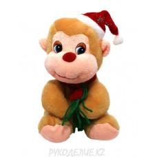 Игрушка Обезьянка-Дед Мороз