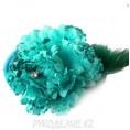 Брошь Цветок Гвоздика d-90мм 29 - Тёмно-голубой