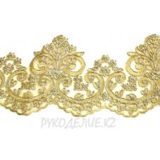 Кружево золото-серебро 13,5см