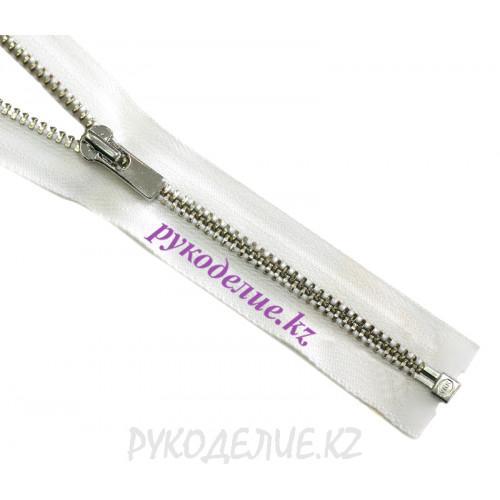 1-замковая Молния металл №3 YKK разъемная, никель глянец, 40 см