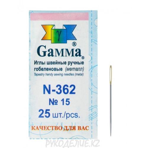 Игла для гобелена с золотым ушком №15 N-362 Gamma
