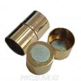 Замок-концевик магнитный L-20мм 1 золото 5798460 D-12мм
