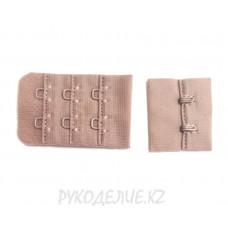 Застежка для бюстгальтера на тканевой основе в 2*3 ряда Angelica Fashion