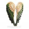 Брошь Крылья Ангела 2 - Зеленый