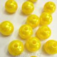 Бусины жемчуг пластиковые 10мм 08 - Лимонный