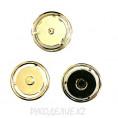 Кнопка пришивная металлическая MS K-57 21мм, 1 - Gold (Золотой)