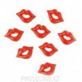 Губы клеевые 19*14мм 1 - Красный