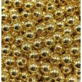 Бусины жемчуг пластиковые 4мм (10гр) 01 - Золотой