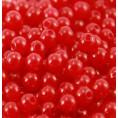 Бусины жемчуг пластиковые (10гр) 8мм - 5 - Красный
