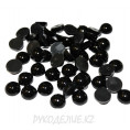 Кабошоны под жемчуг пластик 6мм Angelica Fashion 04 - Черный