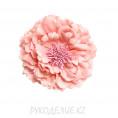 Брошь Цветок пион d=120мм 17 - Светло-розовый