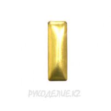 Стразы клеевые металл имитация прямоугольник 2*7мм