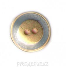 Пуговица металлическая MP2817 (36L, Золотой)