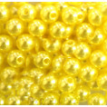 Бусины жемчуг пластиковые 8мм (10гр) 24 - Жёлтый