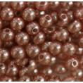 Бусины жемчуг пластиковые 6мм (10гр) 72 - Грязно-розовый