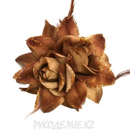 Брошь Цветок d-145мм (т зол)