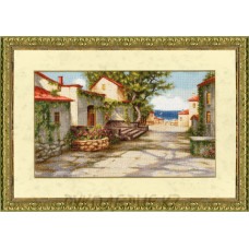 Набор для вышивания крестом Дорога к морю 22,5*38,2см Золотое Руно