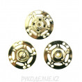 Кнопка пришивная металлическая MS K-52 25мм, 1 - Gold (Золотой)