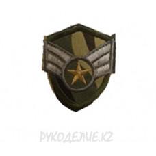 """Шеврон клеевой """"3 Полоски"""" 4,3*5см"""