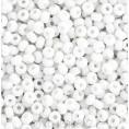 Бисер непрозрачный глянцевый 10/0 Preciosa 03050 - Белый