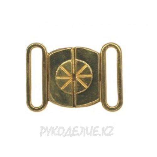 Застежка для купальника металлическая (16мм)