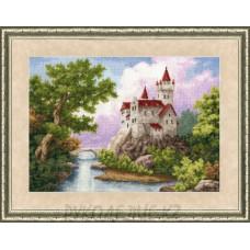 Набор для вышивания крестом Замок 35,8*26,2см Золотое Руно