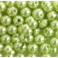 Бусины жемчуг пластиковые 8мм (10гр) 30 - Салатовый