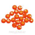 Бусины стекло граненое OPAL 8мм 23 - Оранжевый