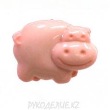 Пуговица бегемотик LF K13 (24L, Розовый)