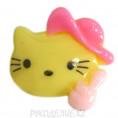 Клеевая фигурка котенок в шляпе 24 - Жёлтый
