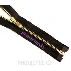 Молния металл разъемная №3 (40см, Золото глянец) YKK