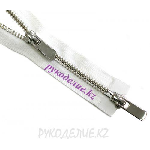 2-замковая Молния металл №5 YKK никель глянец, 100 см