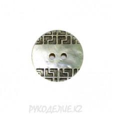 Пуговица ракушечная СFL-201 (54L, Перламутровый)