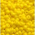 Бисер непрозрачный глянцевый 10/0 Preciosa 83110 - Ярко-жёлтый